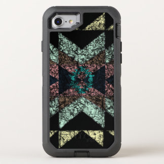 Worn-out tribal pattern. OtterBox defender iPhone 8/7 case