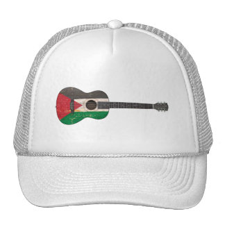Worn Palestinian Flag Acoustic Guitar Hats