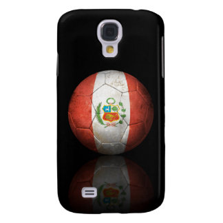 Worn Peruvian Flag Football Soccer Ball Galaxy S4 Case