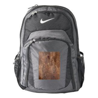Worn pine board backpack