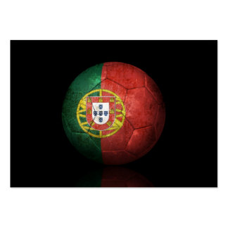 Worn Portuguese Flag Football Soccer Ball Pack Of Chubby Business Cards