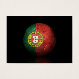 Worn Portuguese Flag Football Soccer Ball Business Card