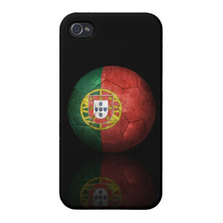 Worn Portuguese Flag Football Soccer Ball iPhone 4/4S Case