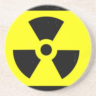 Worn Radioactive Warning Symbol Coaster