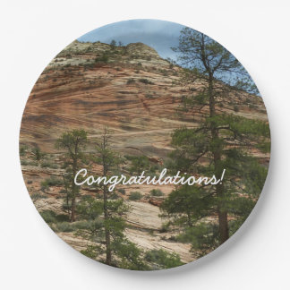Worn Rock Walls in Zion National Park 9 Inch Paper Plate