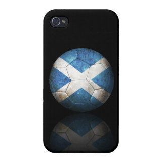Worn Scottish Flag Football Soccer Ball iPhone 4/4S Cover