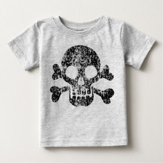 Worn Skull and Crossbones Baby T-Shirt