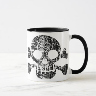Worn Skull and Crossbones Mug