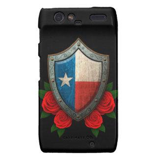 Worn Texas Flag Shield with Red Roses Motorola Droid RAZR Case