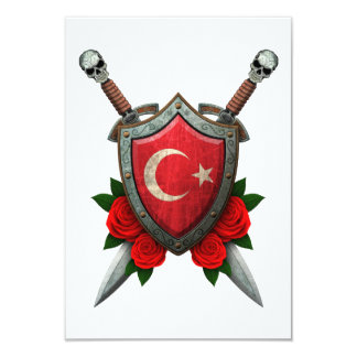 Worn Turkish Flag Shield and Swords with Roses Announcements