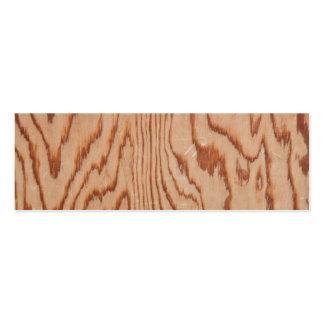 Worn wood grain pack of skinny business cards
