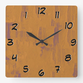 Worn Wood Look -Turn Back the Time Backwards Clock