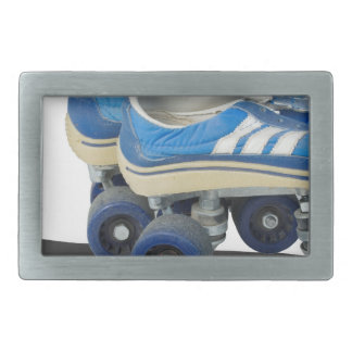 WornTennisShoeRollerSkates050915 Rectangular Belt Buckle
