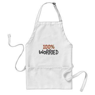Worried 100 Percent Standard Apron