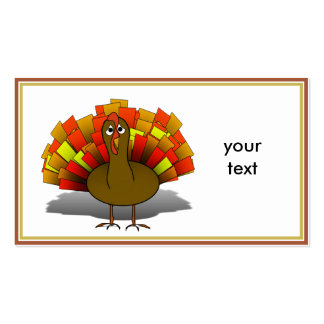 Worried Cartoon Thanksgiving Turkey Business Cards