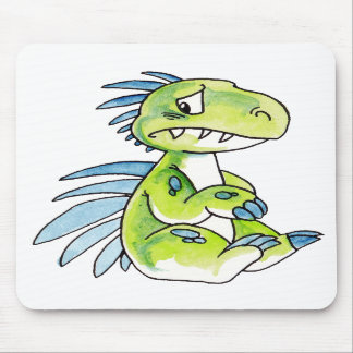 Worried Dinosaur Mousepad