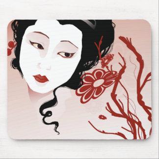 Worried Geisha Mousepad
