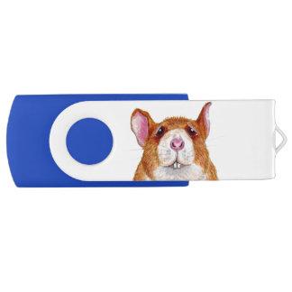worried rat Swivel USB drive Swivel USB 2.0 Flash Drive
