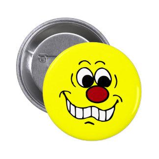 Worried Smiley Face Grumpey 6 Cm Round Badge