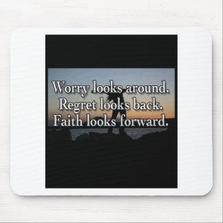 Worry Looks Around Mousepad