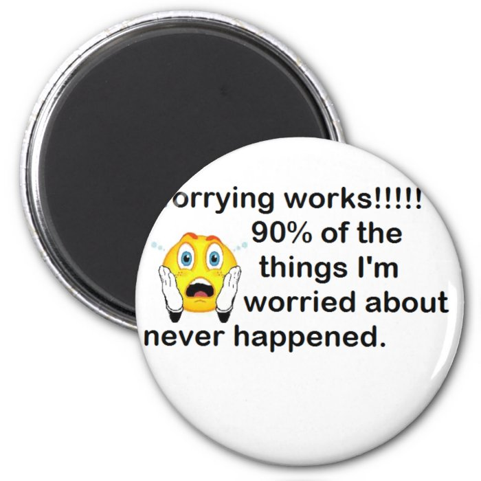 Worrying 6 Cm Round Magnet