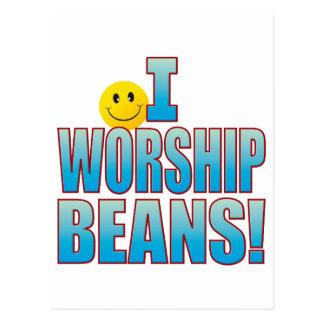 Worship Beans Life B Postcard