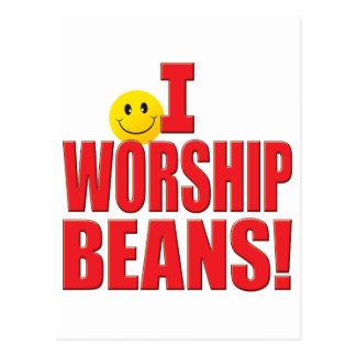 Worship Beans Life Postcard