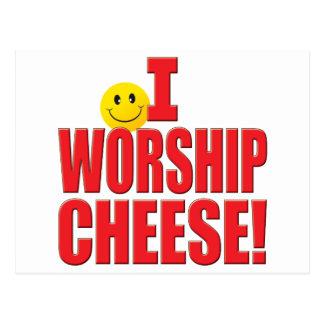 Worship Cheese Life Postcard