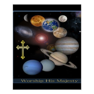 worship his majesty christian poster