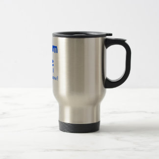 worship me blue coffee mug