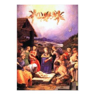 Worship of the Shepherds - Bronzino 13 Cm X 18 Cm Invitation Card