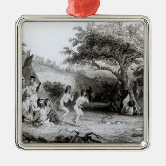 Worship of the Sun, engraved by R. Ehnshelwood Silver-Colored Square Decoration