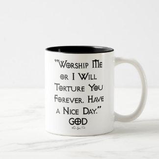 Worship or Torture Two-Tone Mug