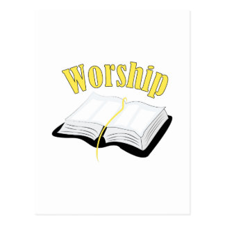 Worship Postcard
