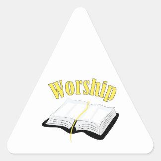 Worship Triangle Sticker