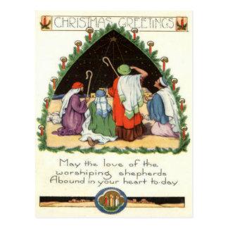 Worshipping Shepherds Postcard