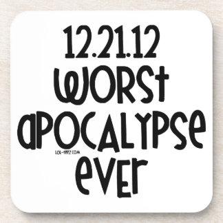Worst Apocalypse Ever Beverage Coasters