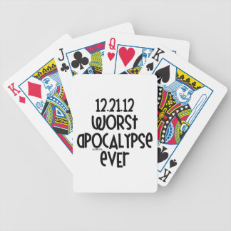 Worst Apocalypse Ever Bicycle Poker Cards