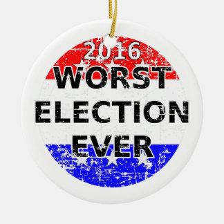 Worst Election Ever Christmas Ornament