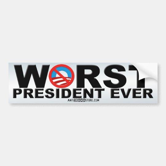 Worst Ever Bumper Sticker