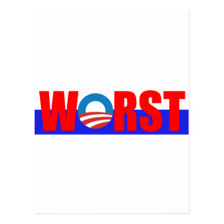 Worst President, Anti Obama Postcard
