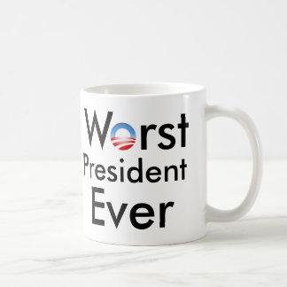 Worst President Ever - Anti Obama Mug