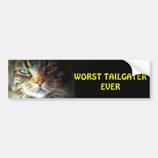 Worst Tailgater Ever Bumper Cat Car Bumper Sticker