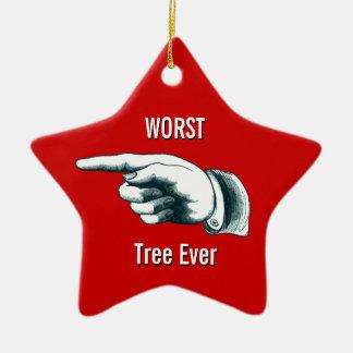 Worst Tree Ever Ceramic Star Decoration