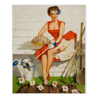 Worth Cultivating Pin Up Art Poster