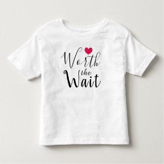 Worth the Wait - Adoption - Heart - New Baby Toddler T-Shirt