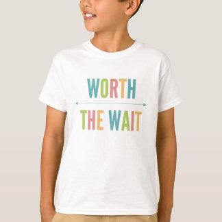 Worth the Wait - Adoption - Modern - New Baby T-Shirt
