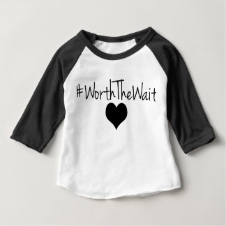 Worth The Wait Baseball Tee for Baby