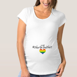 Worth the Wait Rainbow Baby Maternity T-Shirt