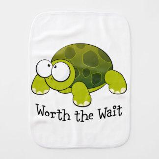 Worth The Wait Turtle Burp Cloth